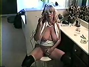 Red-hot blonde milf orders you to comply her