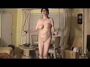 Naked indoor exercise with mature carole big bouncing jugs