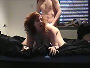 A chesty wife getting it on and loving it cootchie frigged then fucked