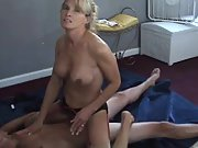 Wild cuckold wife riding a stranger's rigid man-meat